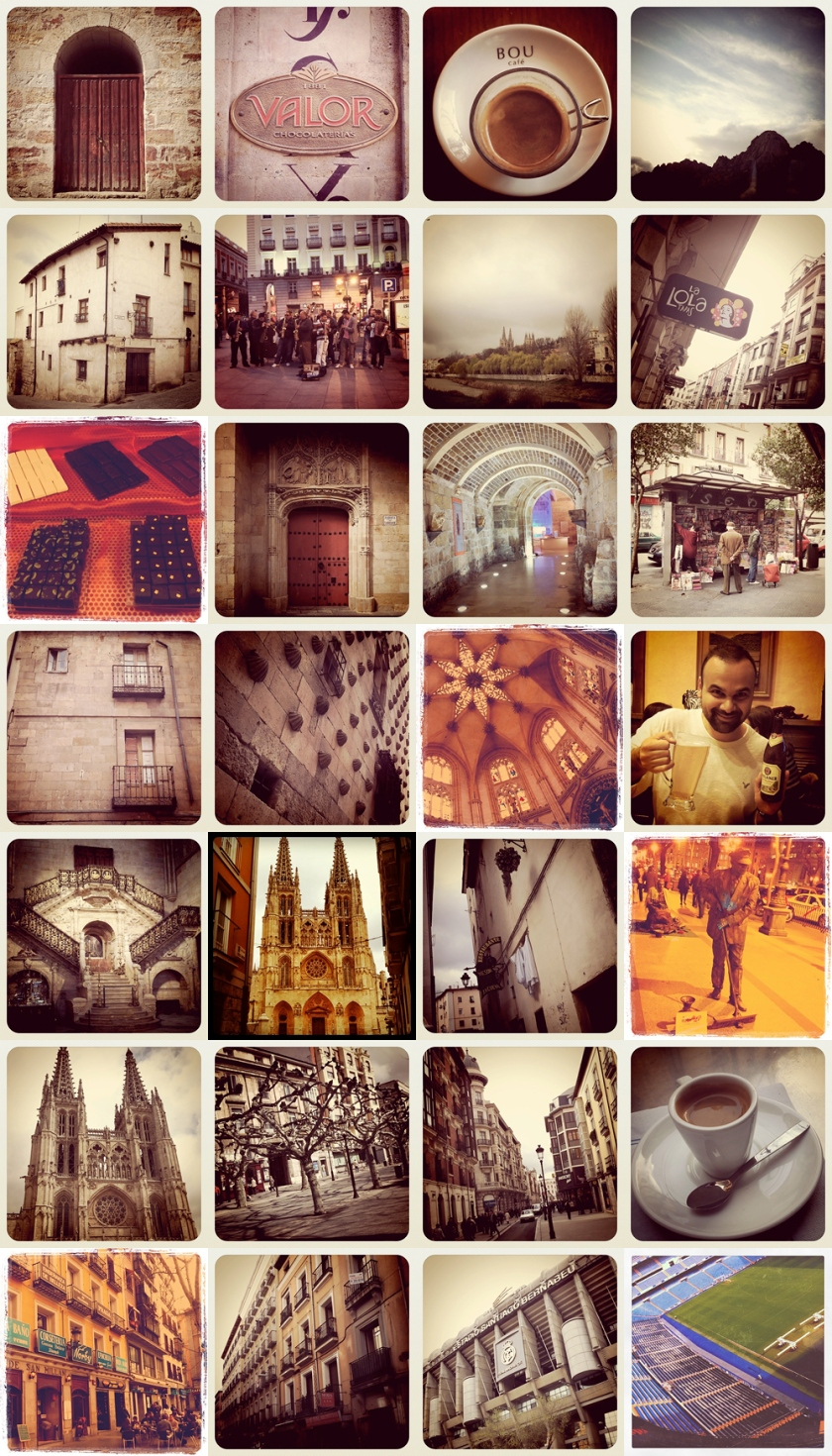 Madrid, Burgos, Salamanca, Valladolid